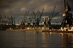 Fotos Litauen Küste Klaipeda port Städte
