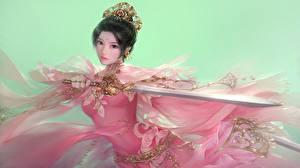 Fonds d'écran Guerrier Asiatique Épée Fantasy Filles