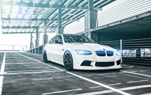 Image BMW White Parking M3 Coupe E92 Cars