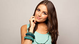 Desktop wallpapers Olivia Culpo Brown haired Glance female