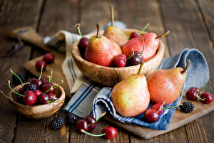 Wallpapers Fruit Pears Cherry