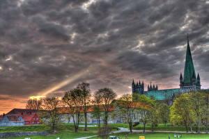Image Norway Sky Clouds Trondheim Cities