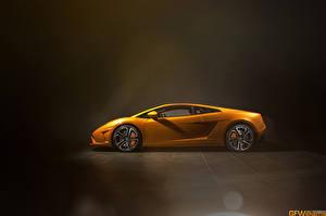Photo Lamborghini Orange Side Luxury LP560 automobile