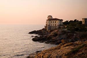 Image Castles Italy Coast Castello del Boccale Livorno Cities