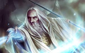 Bakgrunnsbilder Ringenes herre Magi Saruman Fantasy
