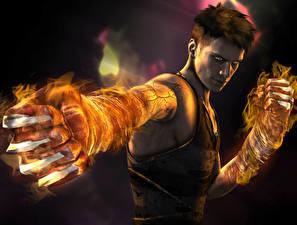 Papel de Parede Desktop Devil May Cry Dante Homem Magia Mão 3D_Gráfica Fantasia