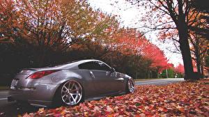 Bilder Nissan Herbst Graues 350z Autos