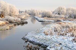Bilder Jahreszeiten Winter Litauen Schnee  Natur