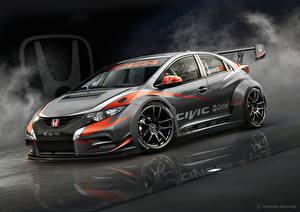 Bilder Honda Grau 2014 Civic WTCC auto