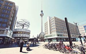 Image Germany Berlin Street Bike Cities