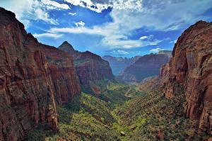 Fotos Landschaftsfotografie Park Vereinigte Staaten Zion-Nationalpark Canyon Natur
