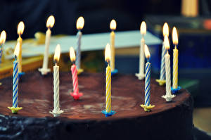 Images Birthday Torte Chocolate Candles