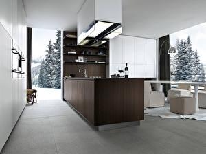 Photo Interior Kitchen High-tech style
