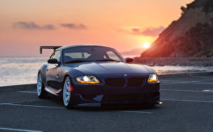 Pictures BMW Sunrises and sunsets Front z4 automobile