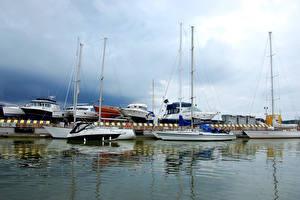 Bilder Litauen Schiff Yacht Meer