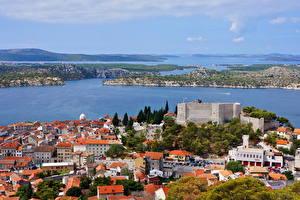 Pictures Croatia Houses Sea Sibenik Cities