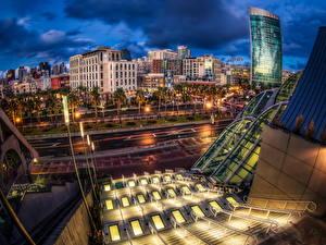Fotos USA Haus HDRI Nacht Straßenlaterne San Diego Städte