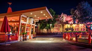 Fotos Vereinigte Staaten Disneyland Park Kalifornien Anaheim Design HDR Nacht Städte