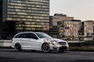 Pictures Mercedes-Benz Tuning Houses Side Silver color 2014 Loewenstein LM63-700 automobile Cities