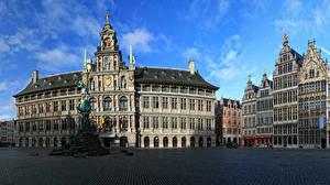 Bilder Belgien Haus Denkmal Straße Antwerpen