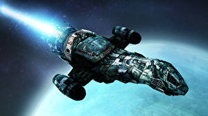 Pictures Technics Fantasy Ship Starship Fantasy 3D_Graphics Space