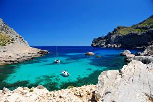 Bilder Spanien Küste Meer Mallorca Kleine Bucht Natur