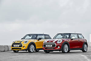 Pictures Mini Tuning Two Yellow Red 2014 Cooper S auto