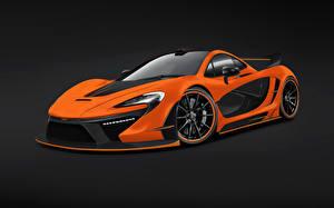 Sfondi desktop McLaren Tuning Arancione Costose 2014 P1 Night Glow macchine