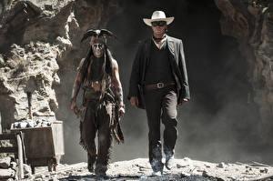 Pictures The Lone Ranger (2013 film) Johnny Depp Man Armie Hammer Cowboy Indians Hat 2 film Celebrities