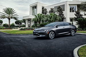 Wallpaper Chrysler Houses Gray Side 2014 200 automobile Cities