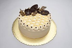 Bilder Süßigkeiten Torte Schokolade Farbigen hintergrund Lebensmittel