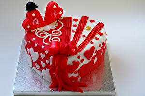 Fotos Süßigkeiten Torte Farbigen hintergrund Lebensmittel