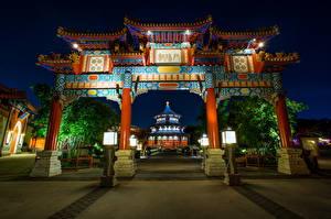 Hintergrundbilder Vereinigte Staaten Disneyland Park Kalifornien Anaheim Design HDRI Nacht Städte