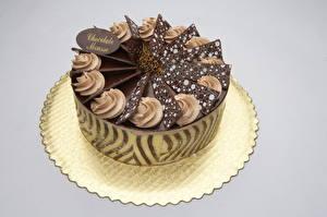 Fotos Süßigkeiten Torte Schokolade Farbigen hintergrund Lebensmittel