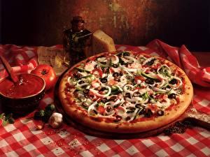 Hintergrundbilder Pizza Tomaten Lebensmittel