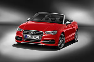Photo Audi Convertible Red Front 2014 S3 Cars
