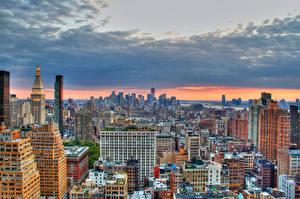 Bilder USA Gebäude New York City Megalopolis HDRI Städte