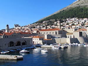 Wallpaper Croatia Building Coast Dubrovnik Cities