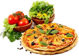 Bilder Pizza Tomate Dill Tasse Basilikum das Essen