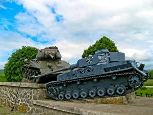 Hintergrundbilder Denkmal Panzer  Heer
