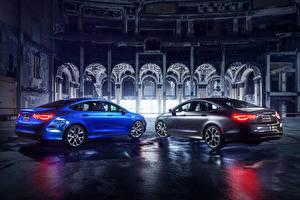 Wallpapers Chrysler Two Blue Grey Night Sedan 2014 200 sedan Cars