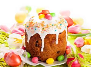Hintergrundbilder Backware Feiertage Ostern Kulitsch Zuckerguss Eier