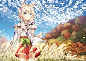 Hintergrundbilder Kitsune morerin, original Anime Mädchens