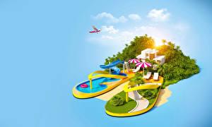 Sfondi desktop Tropici Resort Piscine Grafica_3D