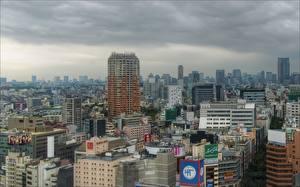 壁纸、、日本、住宅、東京都、メガロポリス、都市