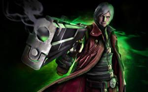 Papel de Parede Desktop Devil May Cry Devil May Cry 4 Pistolas Homem Dante