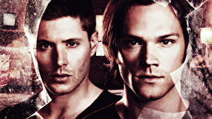 Pictures Supernatural Men Jensen Ackles Jared Padalecki 2 Face Staring Movies Celebrities