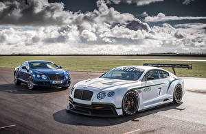 Wallpapers Bentley Tuning 2 White Light Blue 2012 Continental GT3 automobile