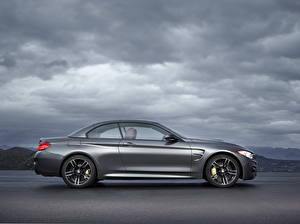 Pictures BMW Grey Side Clouds 2014 M4 F32 cabriolet Cars