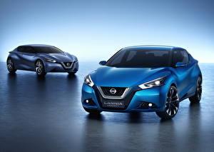 Wallpaper Nissan 2 Light Blue 2014 Lannia auto